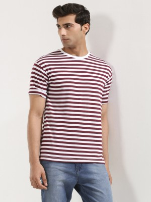 KOOVS Boxy Fit Stripe T-Shirt...