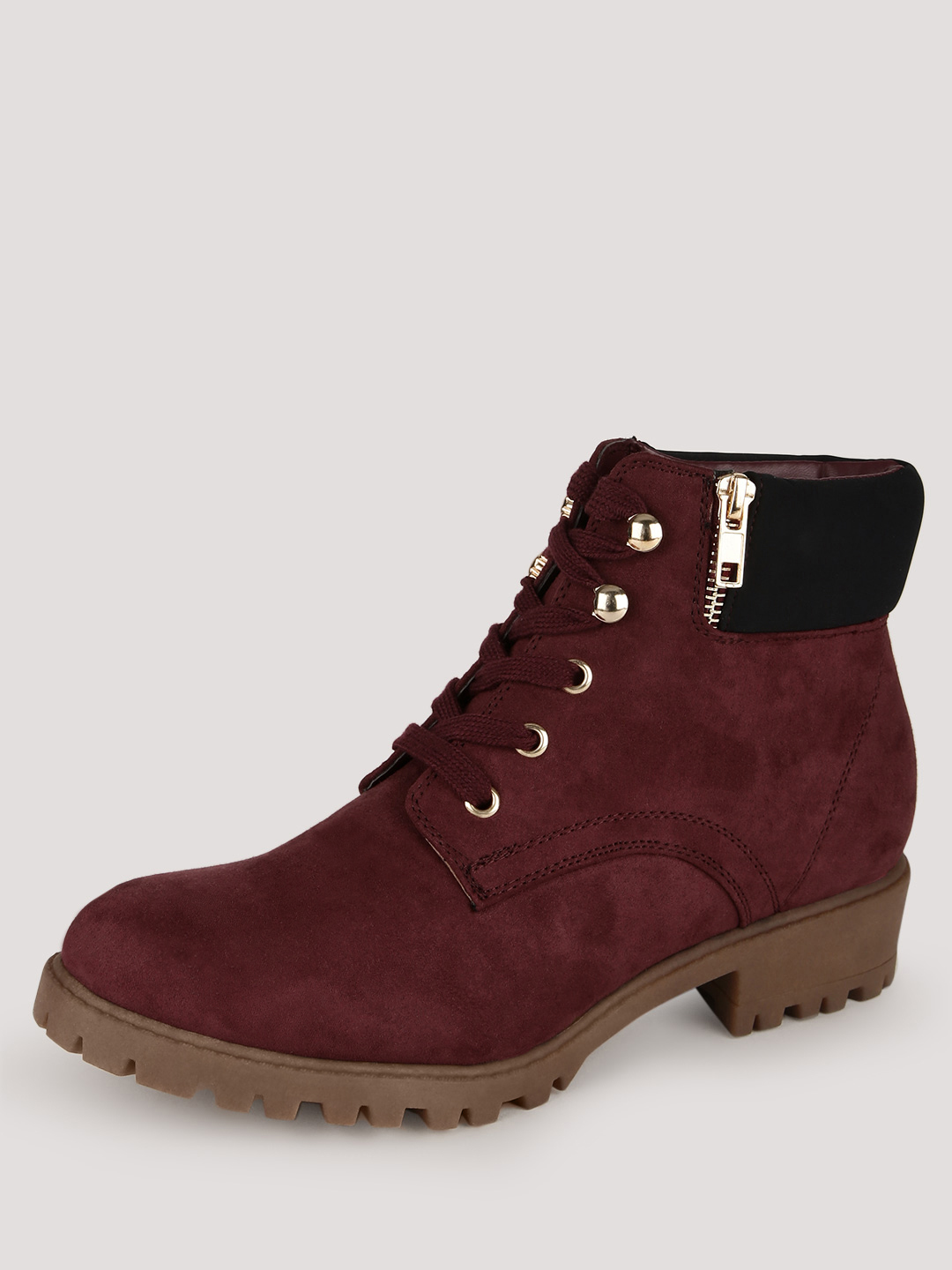 New Look Red Worker Boots 1