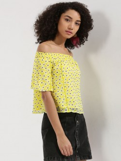 KOOVS Floral Off Shoulder Top