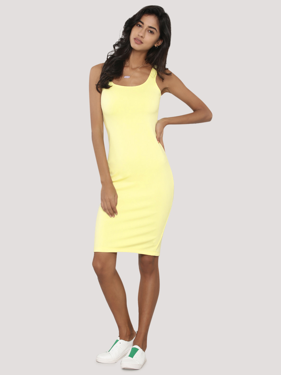 KOOVS Square Neck Bodycon Dres...