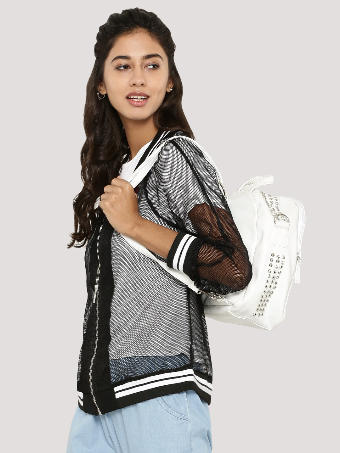 Spring Break Mesh Bomber Jacke...