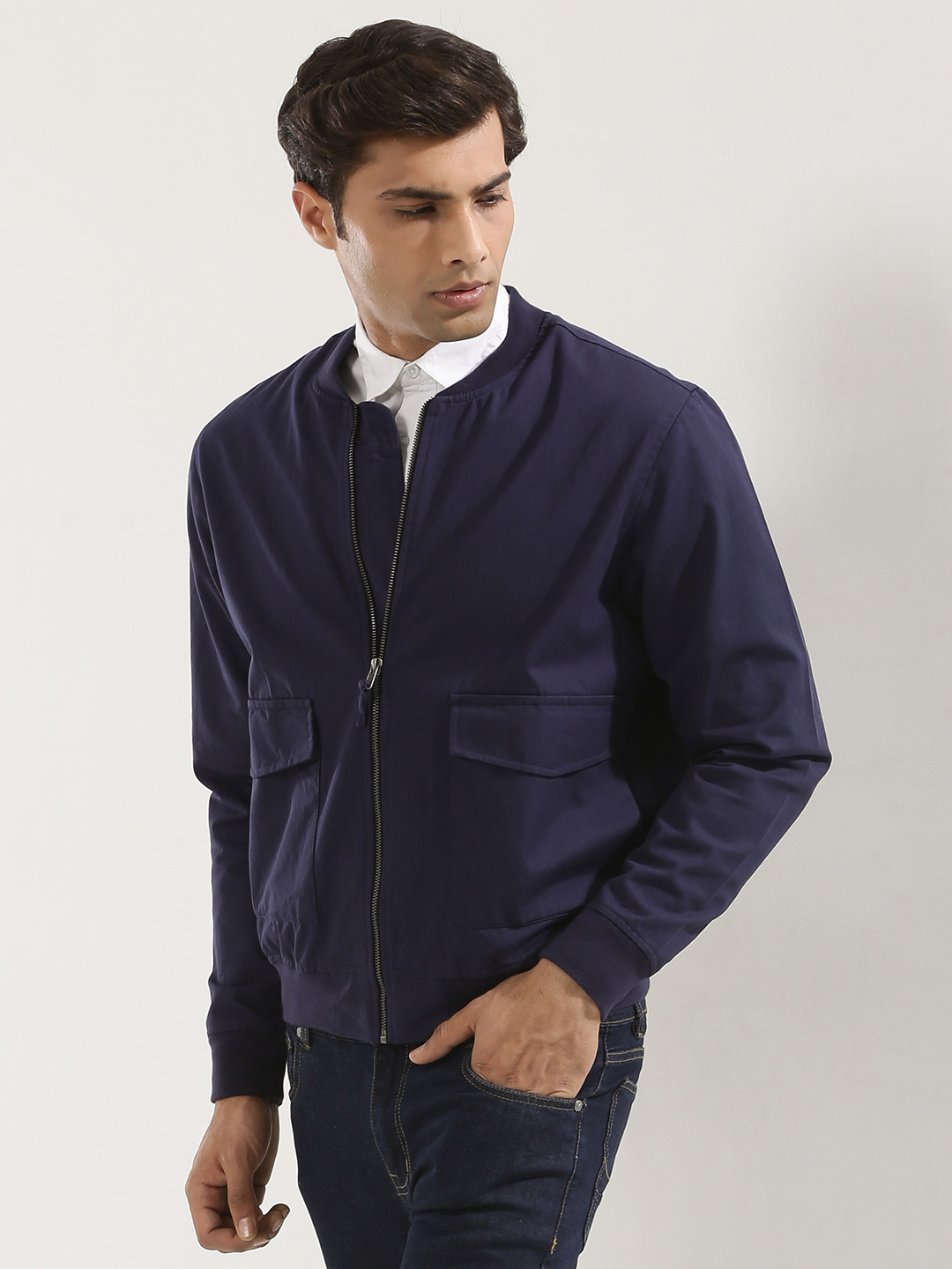 KOOVS Multi Pocket Bomber Jack...
