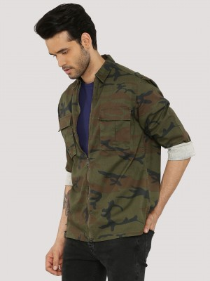 STYX & STONES Camo Shacket Wit...