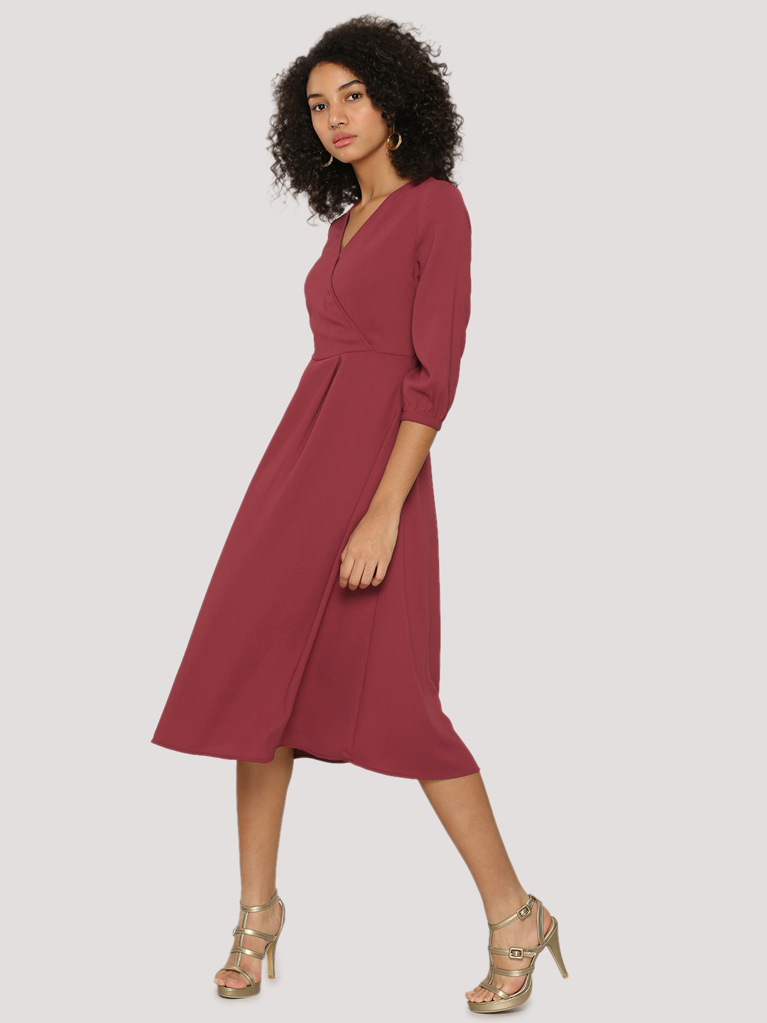 Femella Front Wrap Midi Dress...