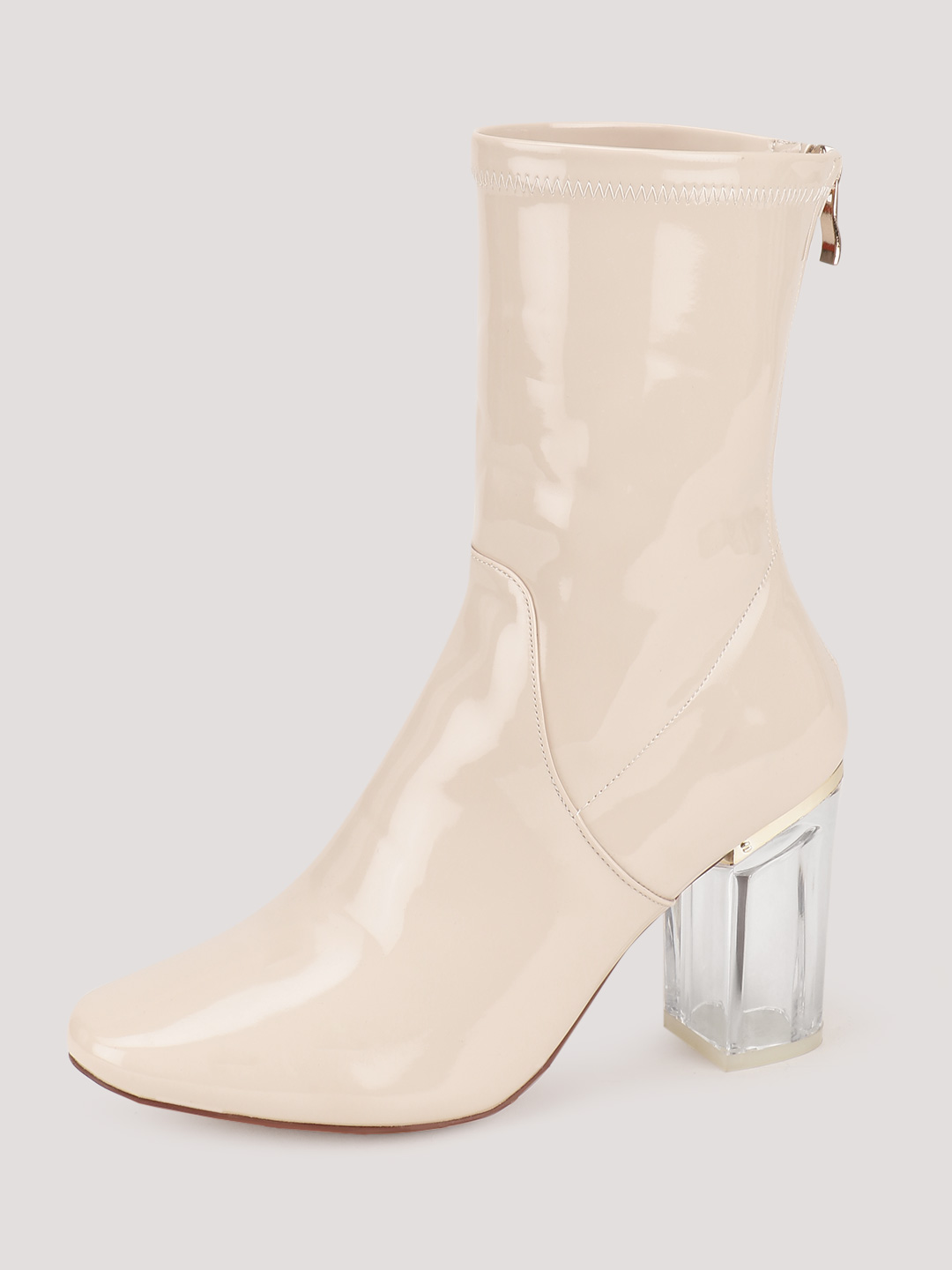 Velvet Army Nude Boots With Perspex Heels 1