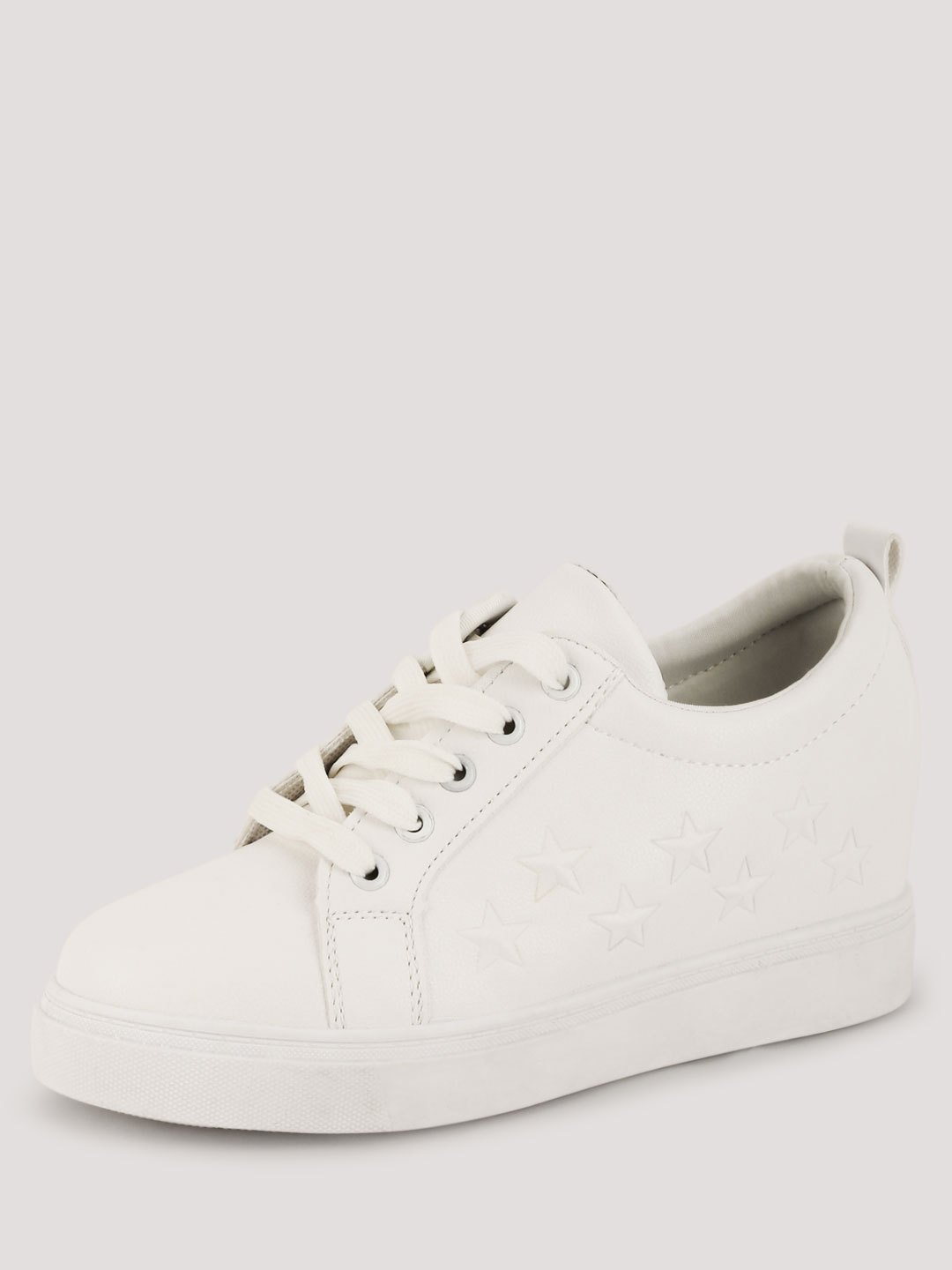 My Foot Couture White Star Detail Trainers 1