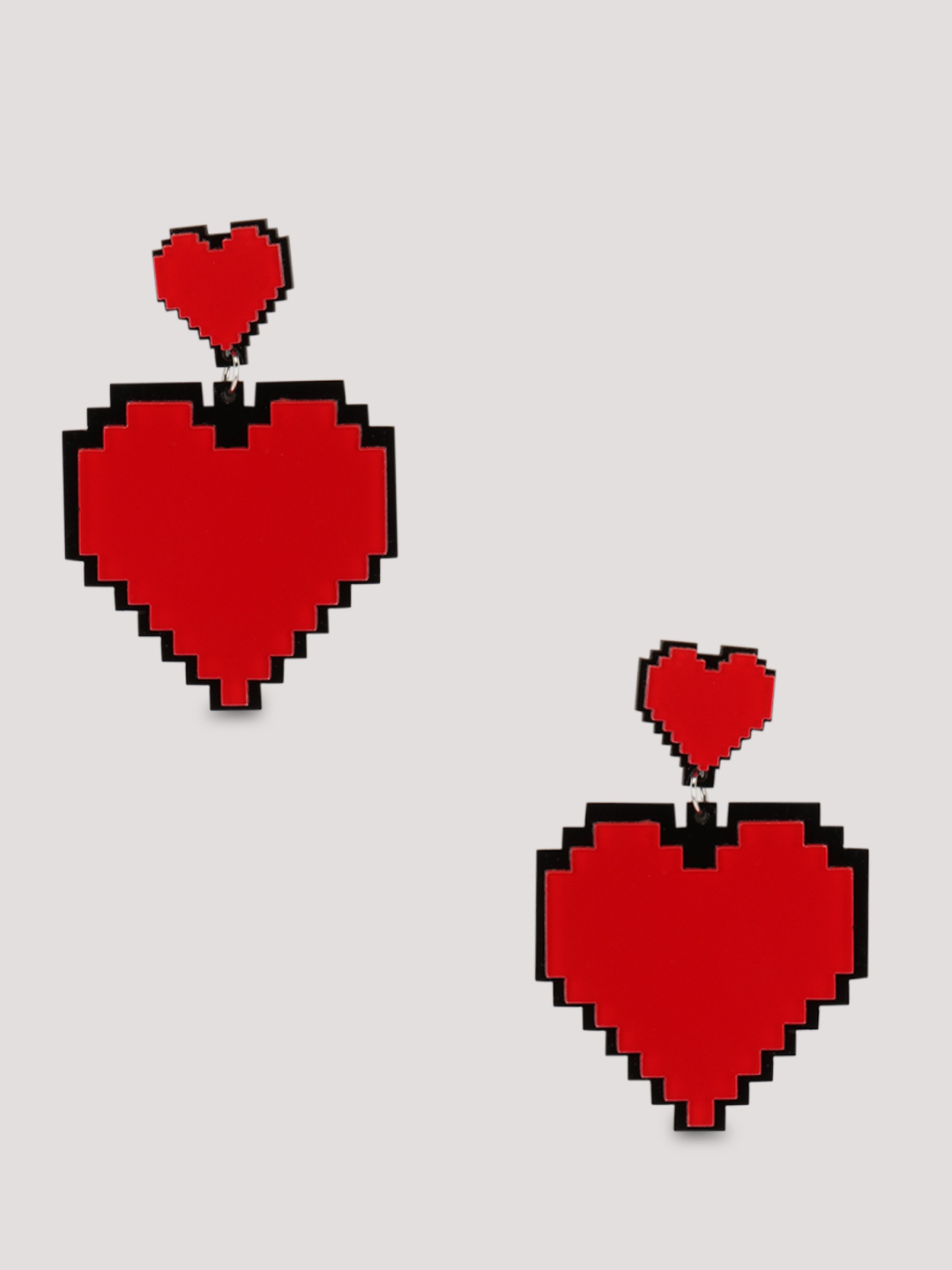 Eristona Pixelated Heart Earri...