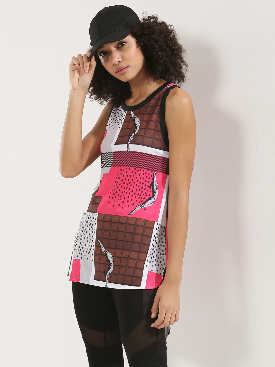 MASABA X KOOVS Multi Chocolate Print Tunic Top 1