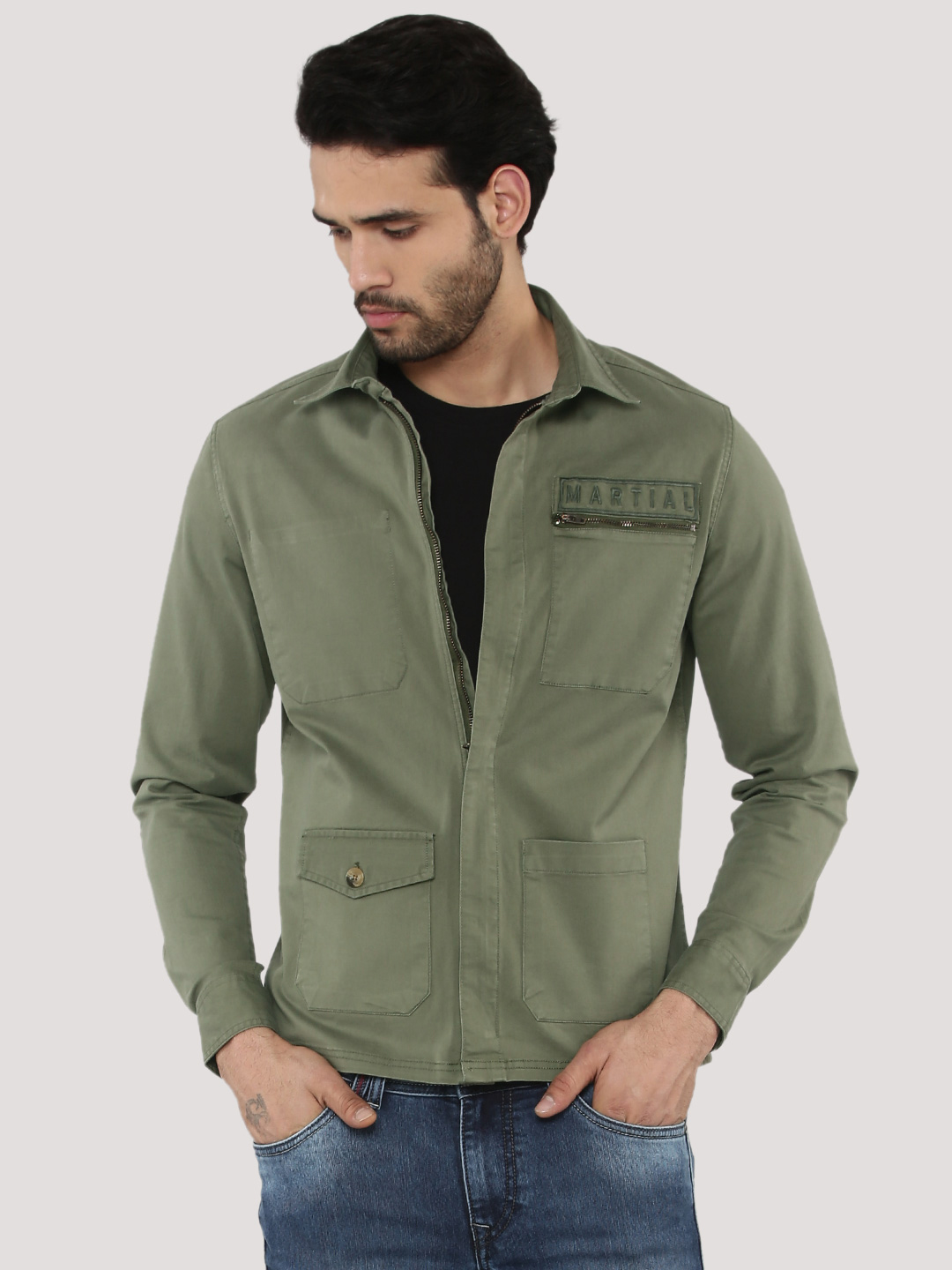 Adamo London Military Shacket ...