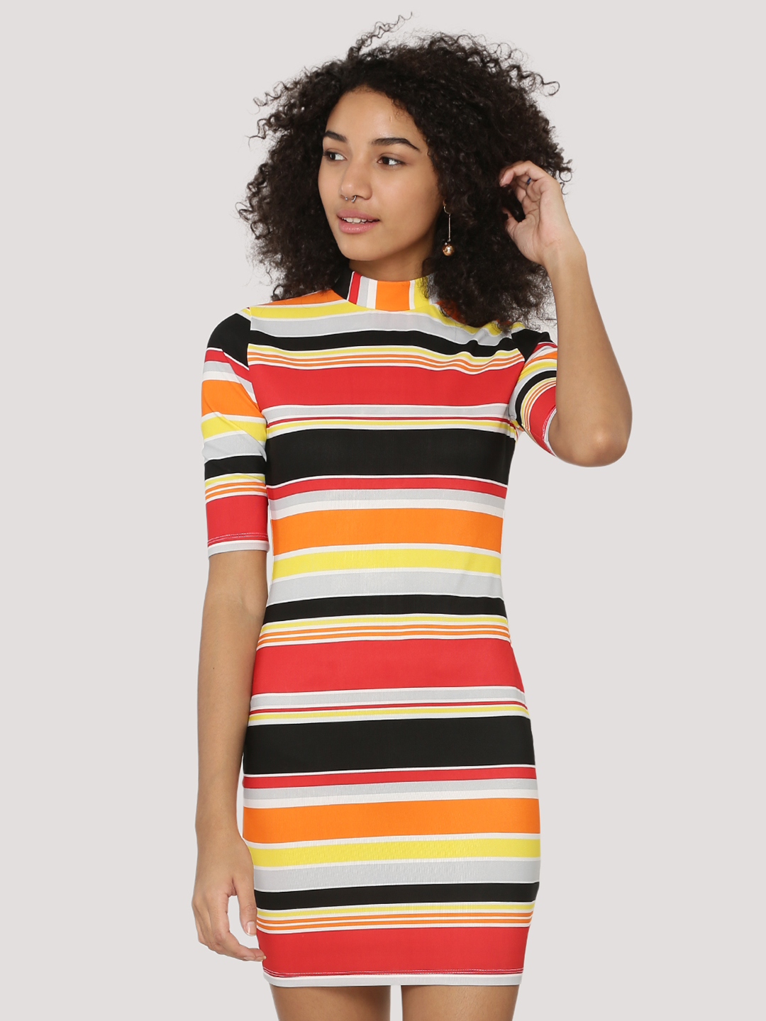 KOOVS Striped Bodycon Dress...
