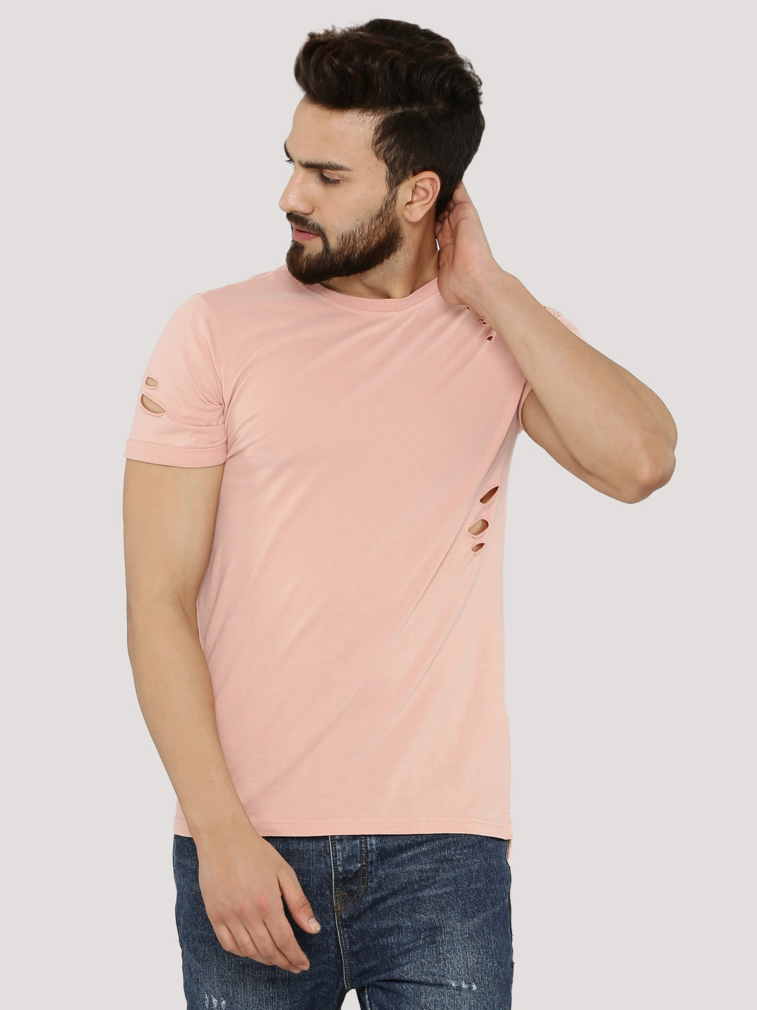 New Look Step Hem T-Shirt With...