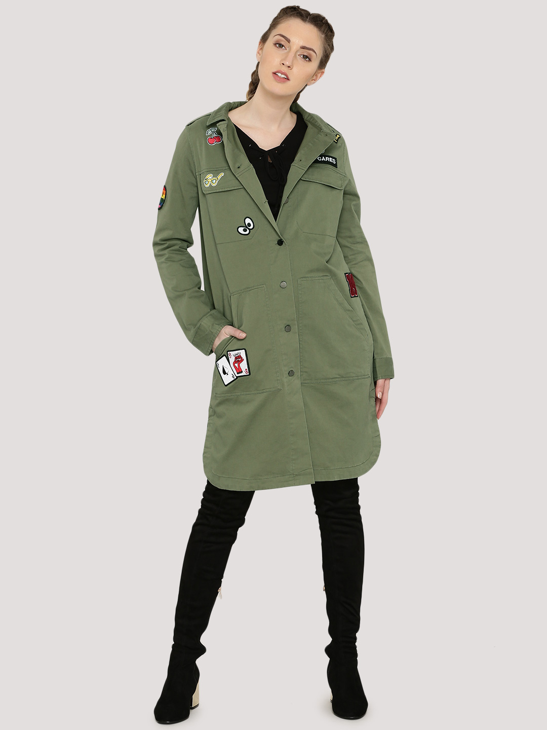 Evah London Long Jacket With P...