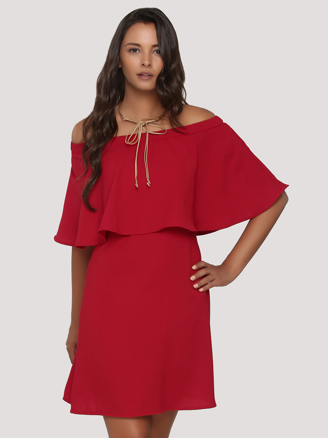 Femella Off Shoulder Tier Dres...