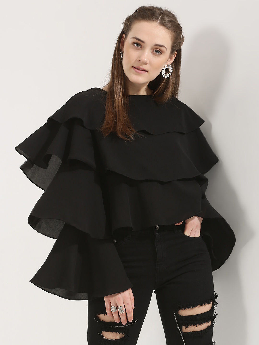 Noble Faith Ruffle Bell Sleeve...