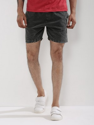 KOOVS Acid Wash Elasticated Sh...