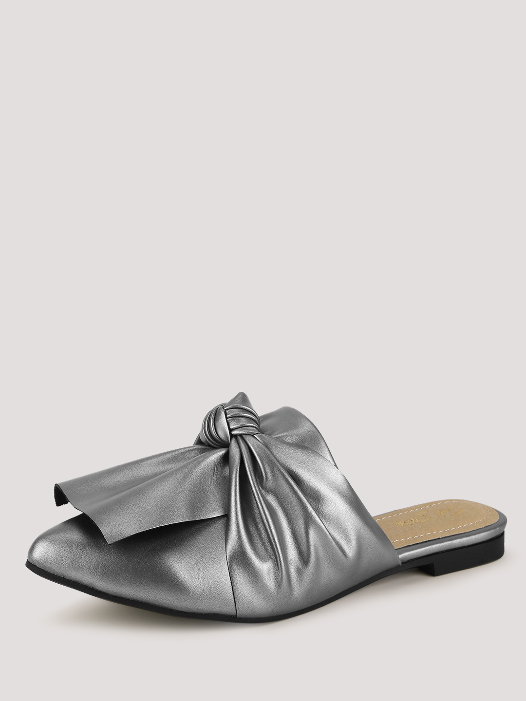 Sole Story Pewter Knotted Mules 1