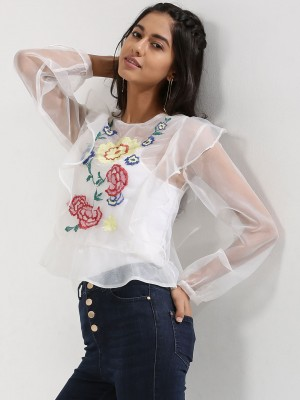 RENA LOVE Organza blouse with ...