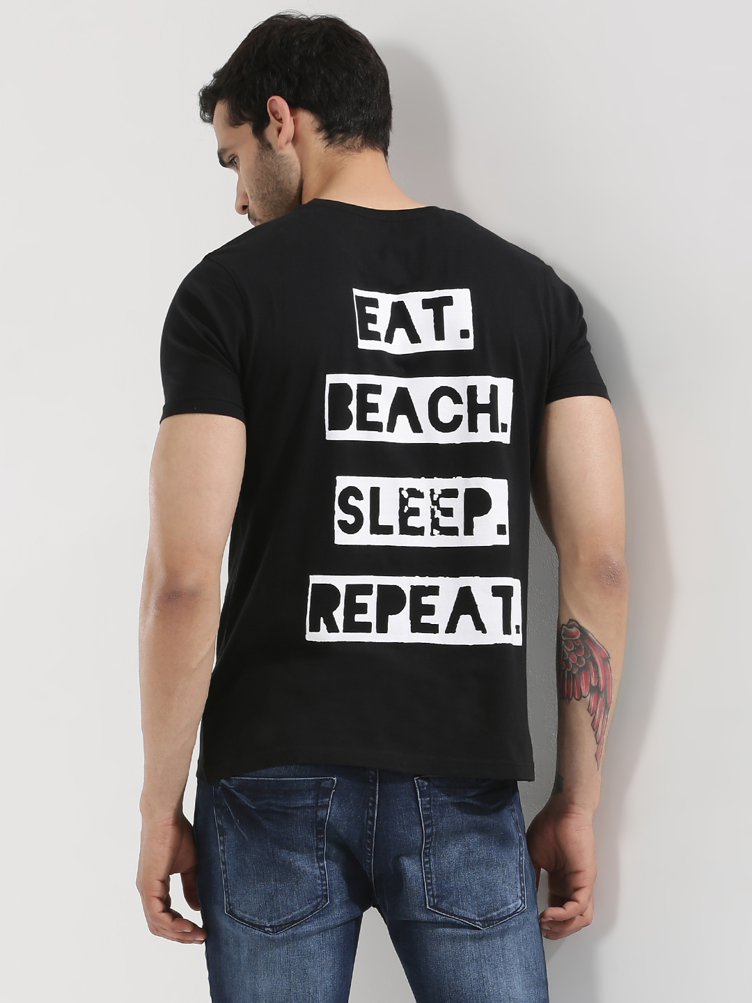 Garcon Back Print T-Shirt With...