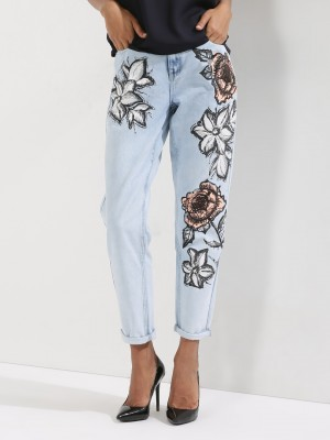 GLAMOROUS Floral Jeans...