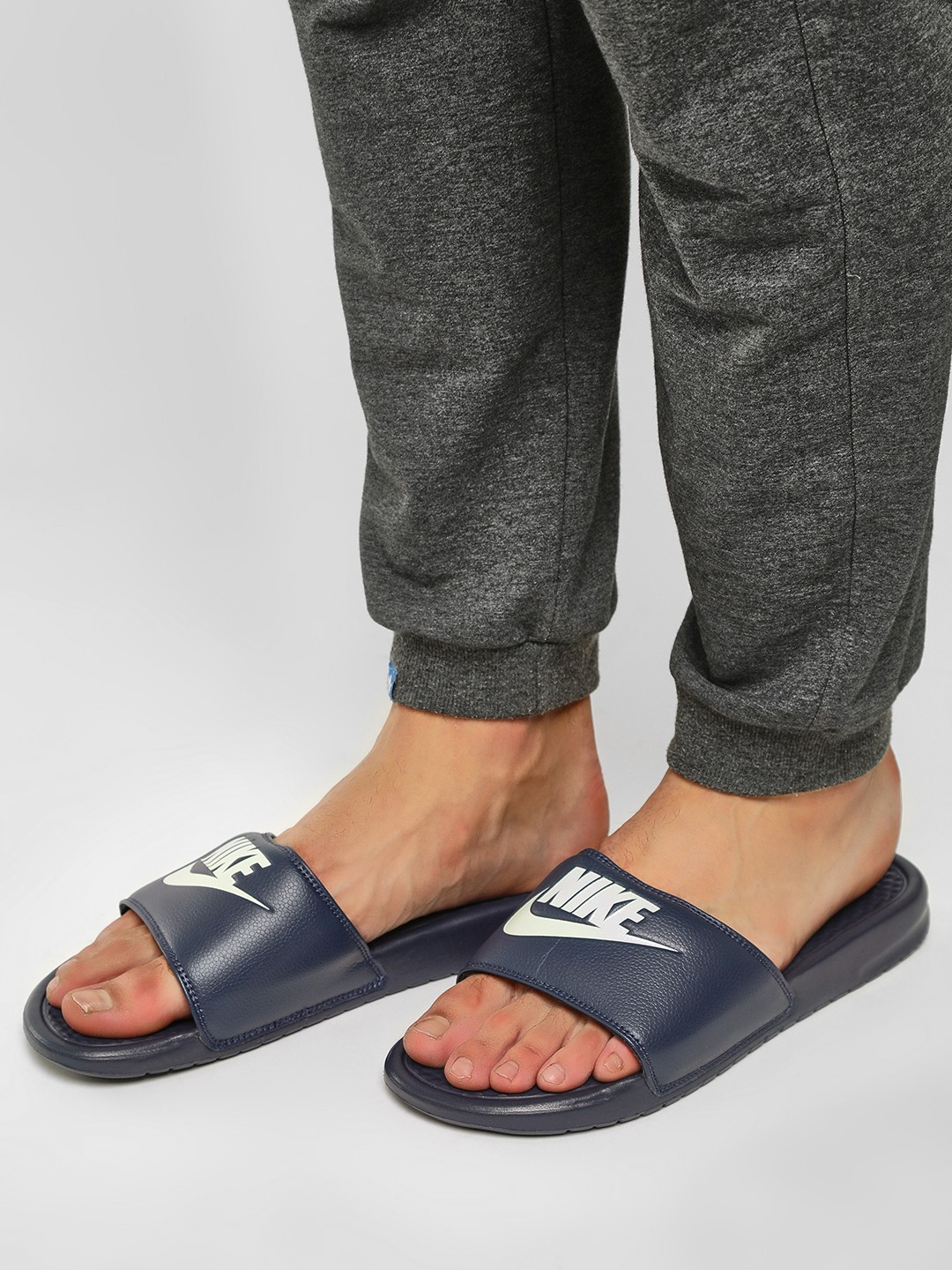 Nike Blue Benassi Sliders 1