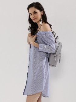 J.D.Y Off Shoulder Shirt Dress