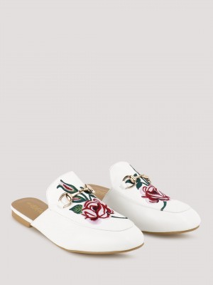 VELVET ARMY Embroidered Mules...