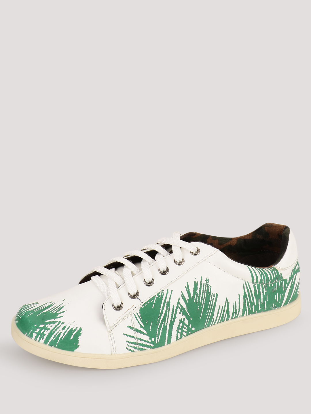 Knotty Derby White Trainers With Printed Upper 1
