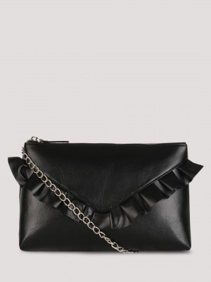 KOOVS Ruffle Clutch Bag...