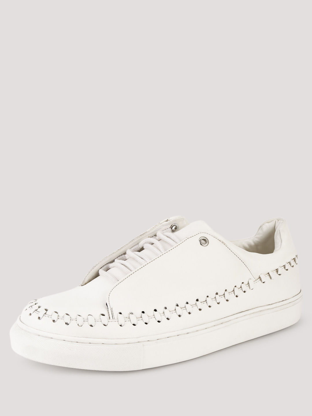 KOOVS White Whipstitch Detail Trainers 1