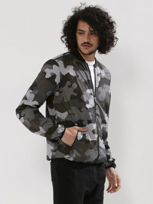 NEW LOOK Pixel Camo Bomber Jac...