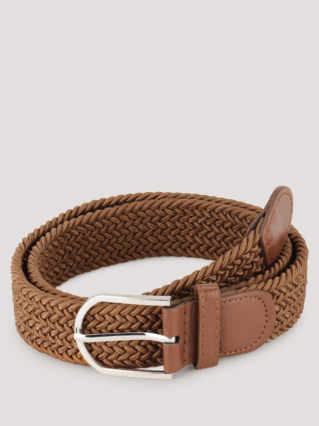 Blueberry Men Tan Nylon Webbed Belt 1
