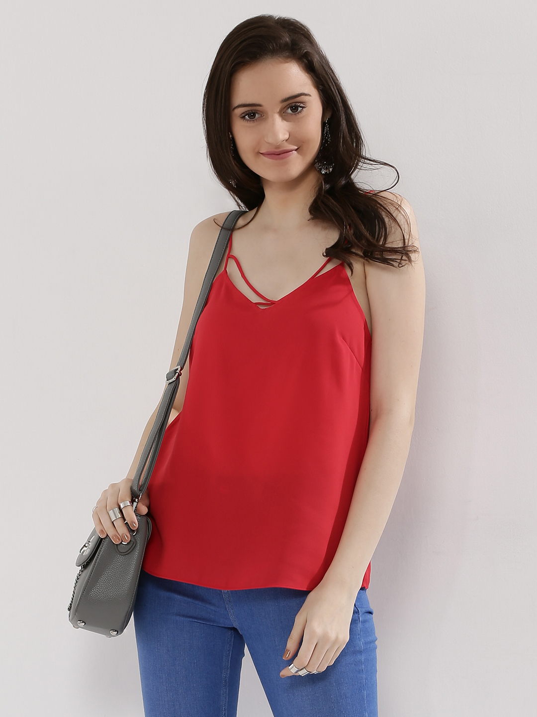 New Look Red Cami Top 1