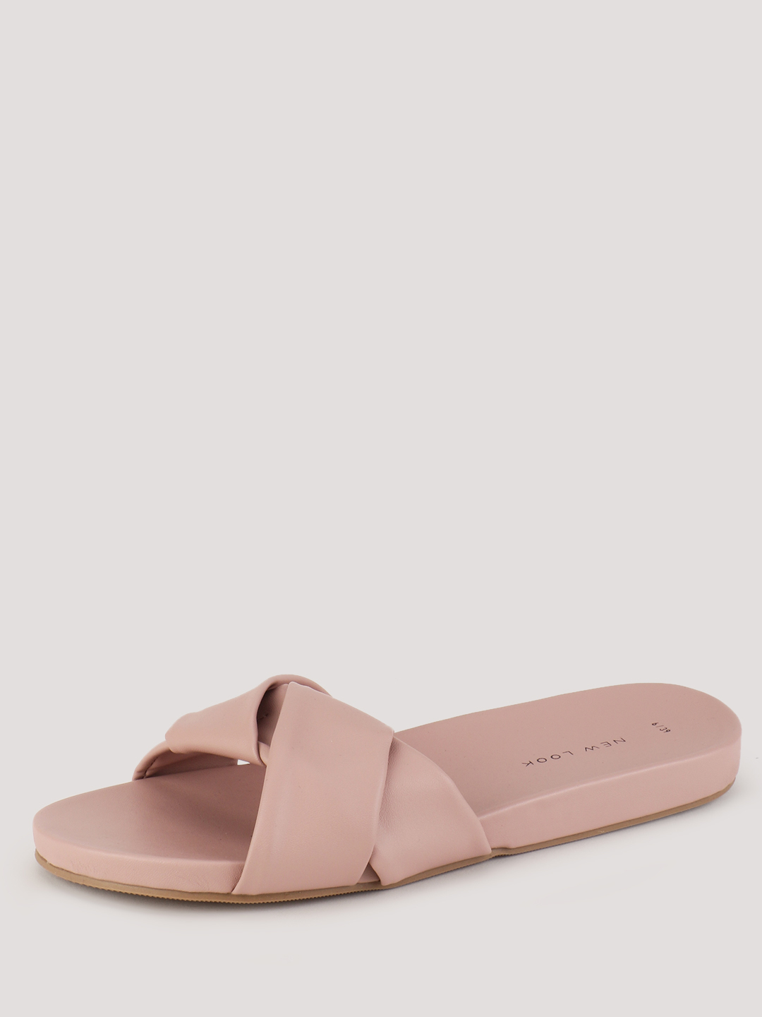 New Look Light Pink Open Toe Knot Slides 1