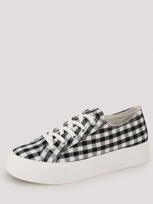 NEW LOOK Gingham Flatform Lace...