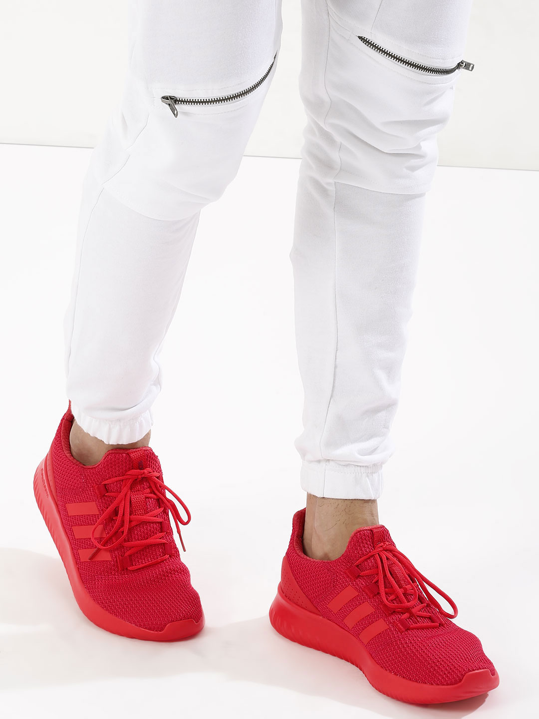Adidas Neo Red Cloudfoam Ultimate Trainers 1