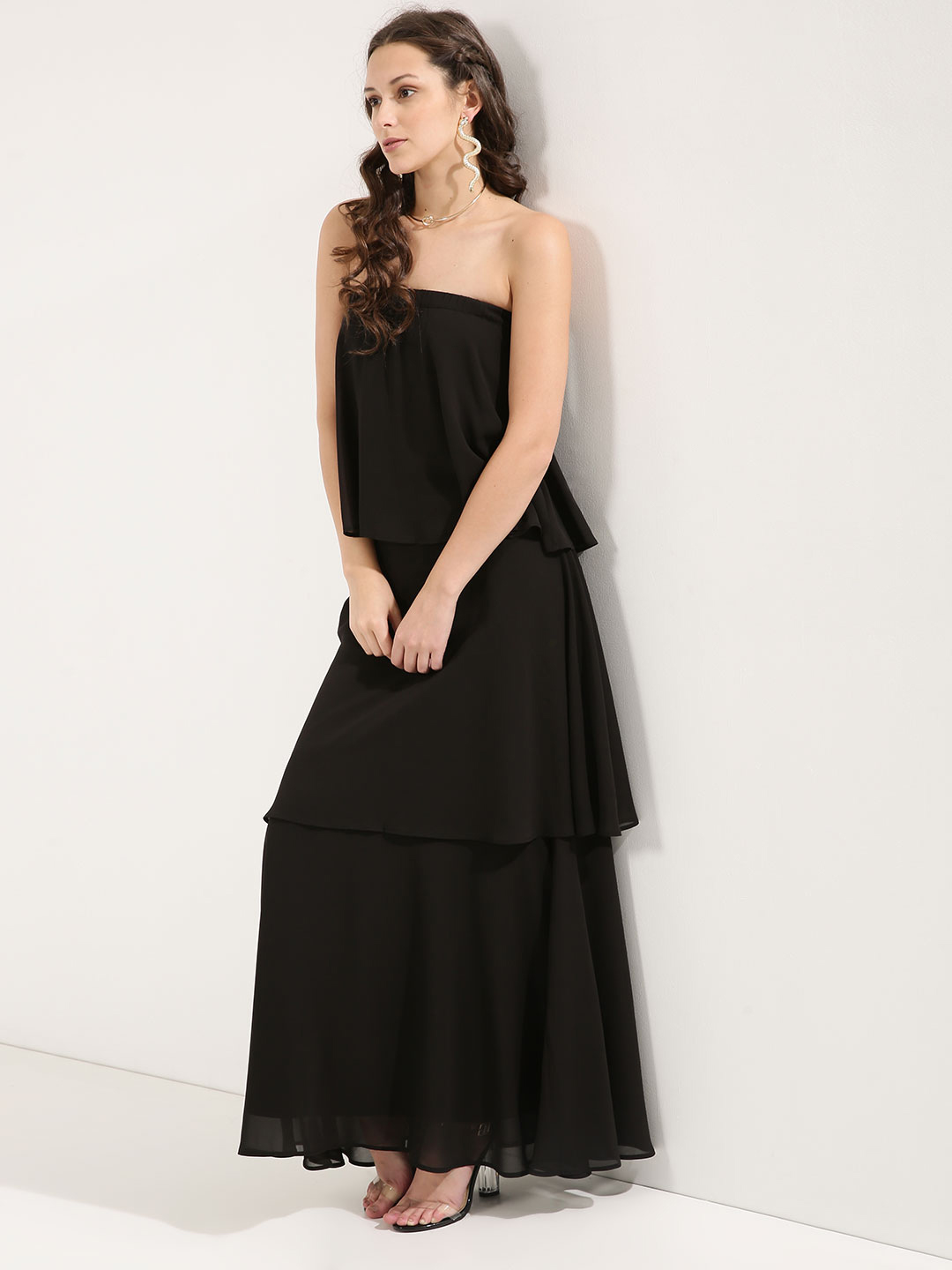 Femella Strapless Tiered Maxi ...