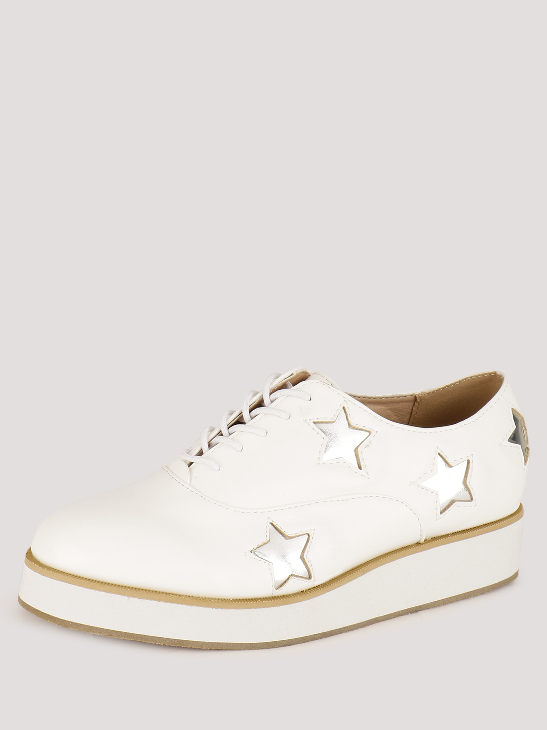 Truffle Collection White Star Print Shoes 1