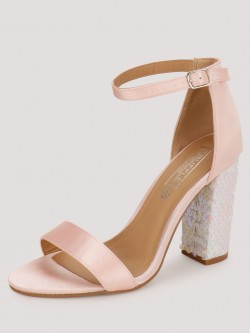 Truffle Collection Sandals With Sequinned Heels