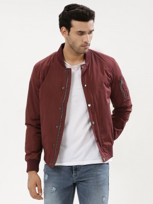 KOOVS Snap Button Bomber Jacke...