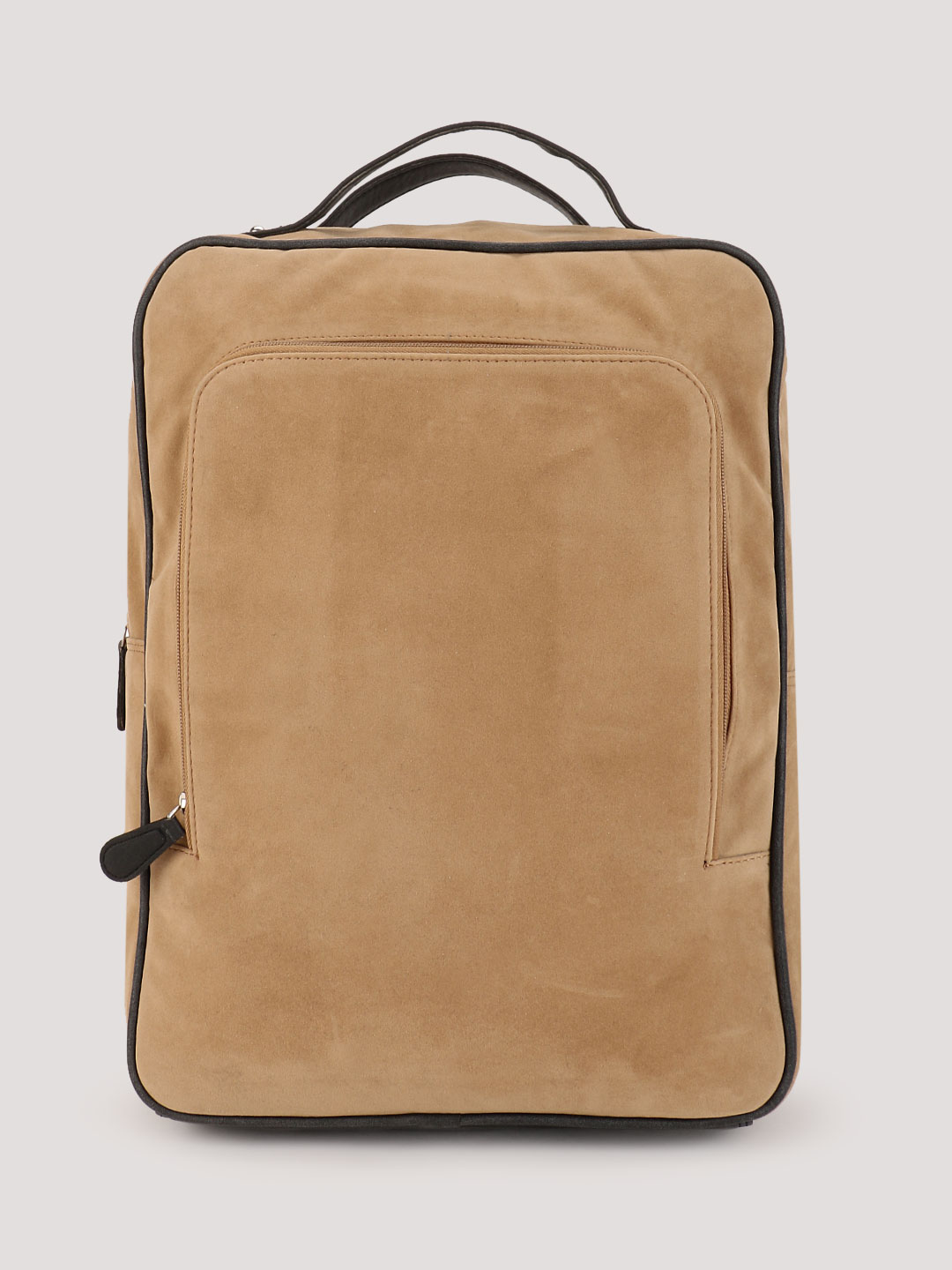 Rivet Backpack With Front Zip Pocket And Laptop Panel