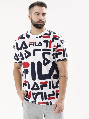 FILA BLACK All Over Logo Print...