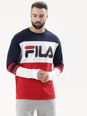 FILA BLACK Colour Block Logo T...