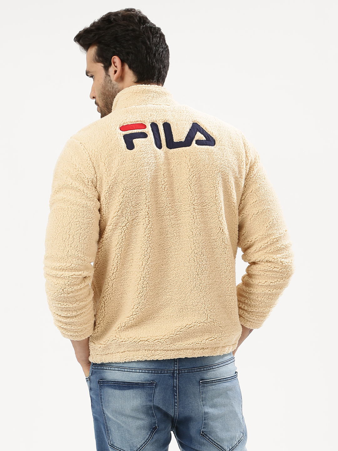 Fila Black Sherpa Fleece Jacke...