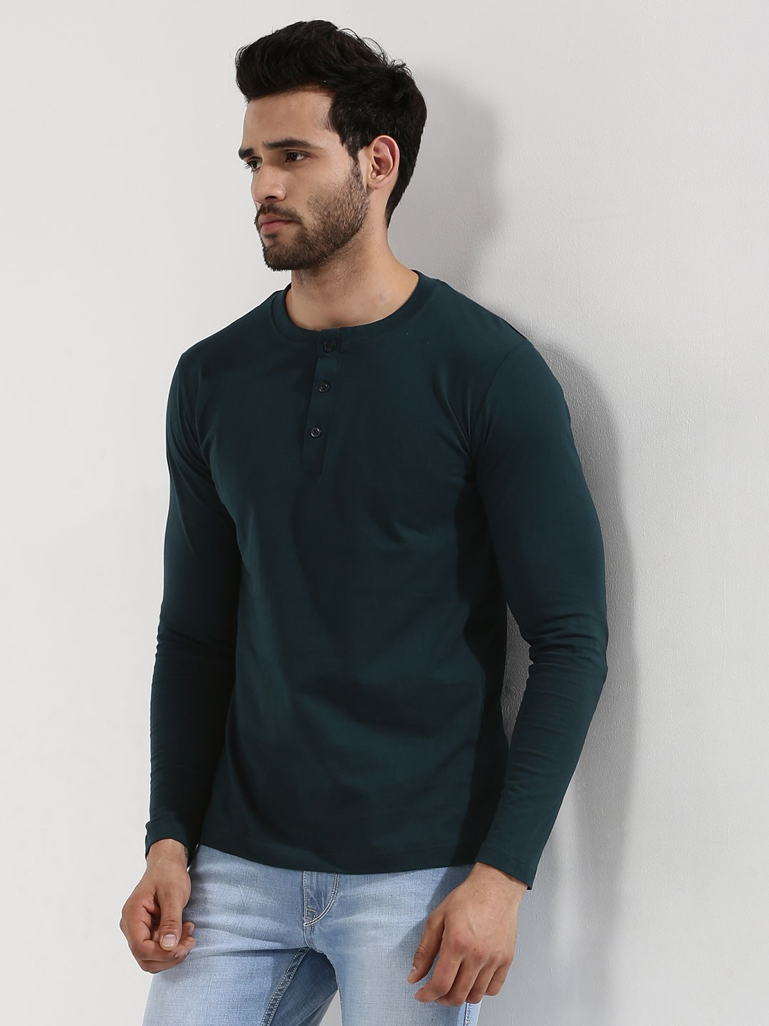 Blue Saint Indigo Exclusive Henley In Long Sleeves 1