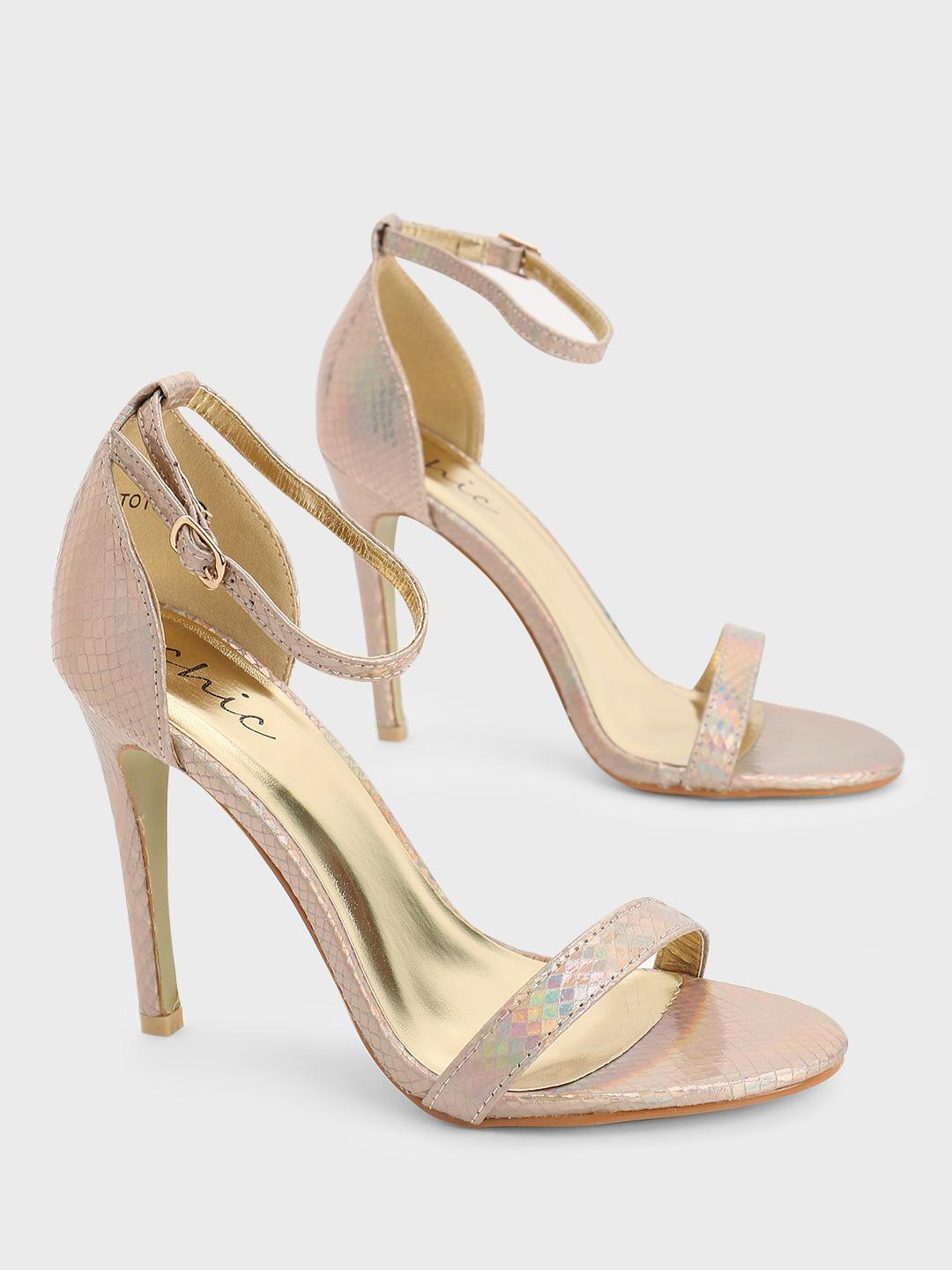 No Doubt Gold Barely There Sandals 1
