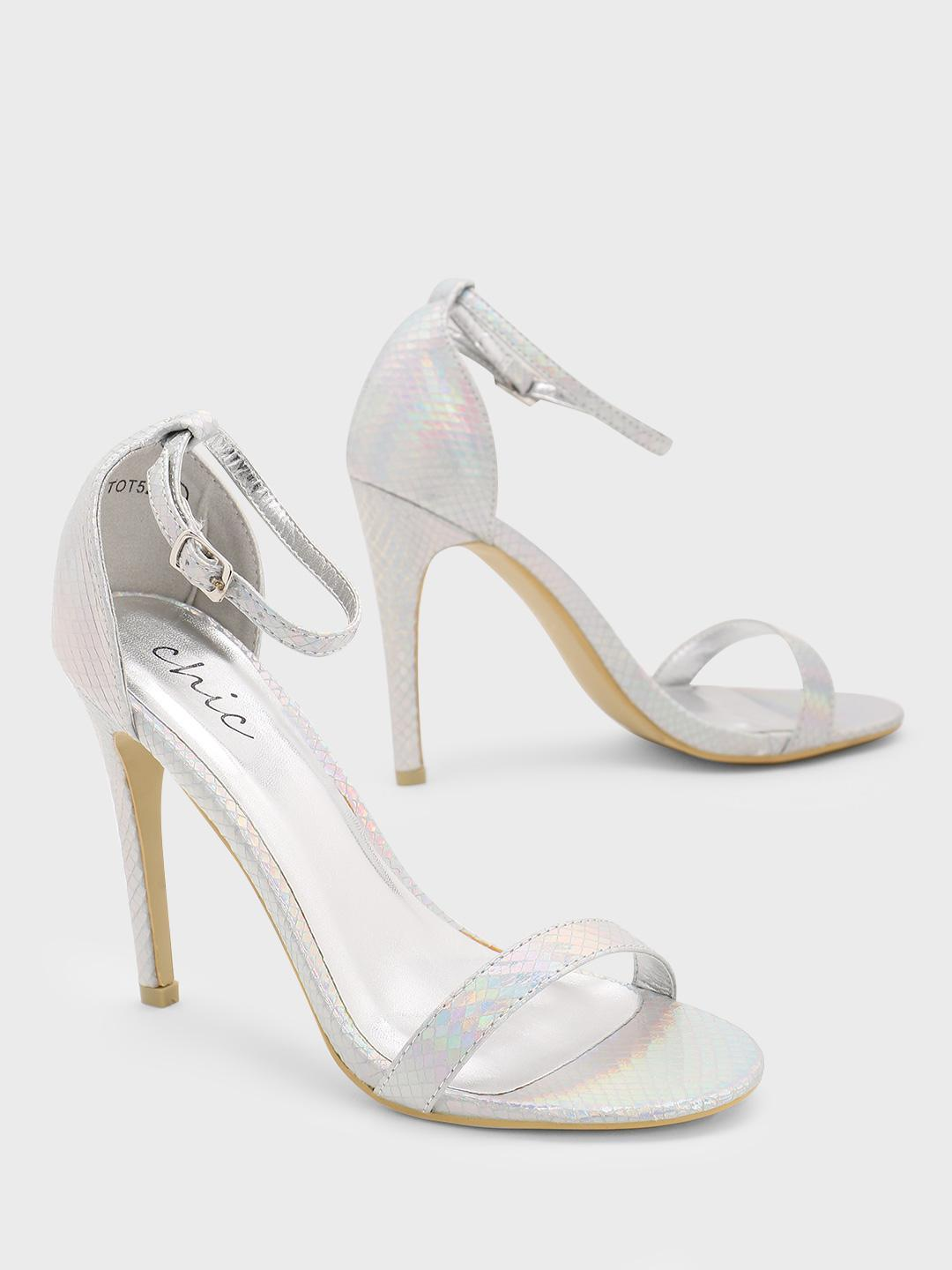 No Doubt Silver Barely There Sandals 1