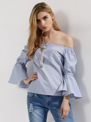 RIDRESS Striped Top With Flare...