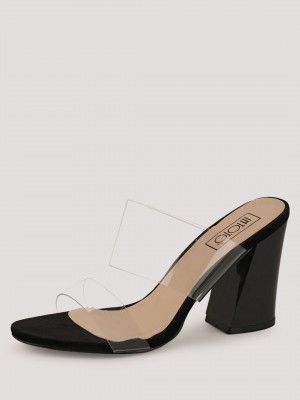 INTOTO Clear Strap Mules...