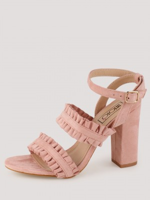 INTOTO Ruffle Strap Sandals...