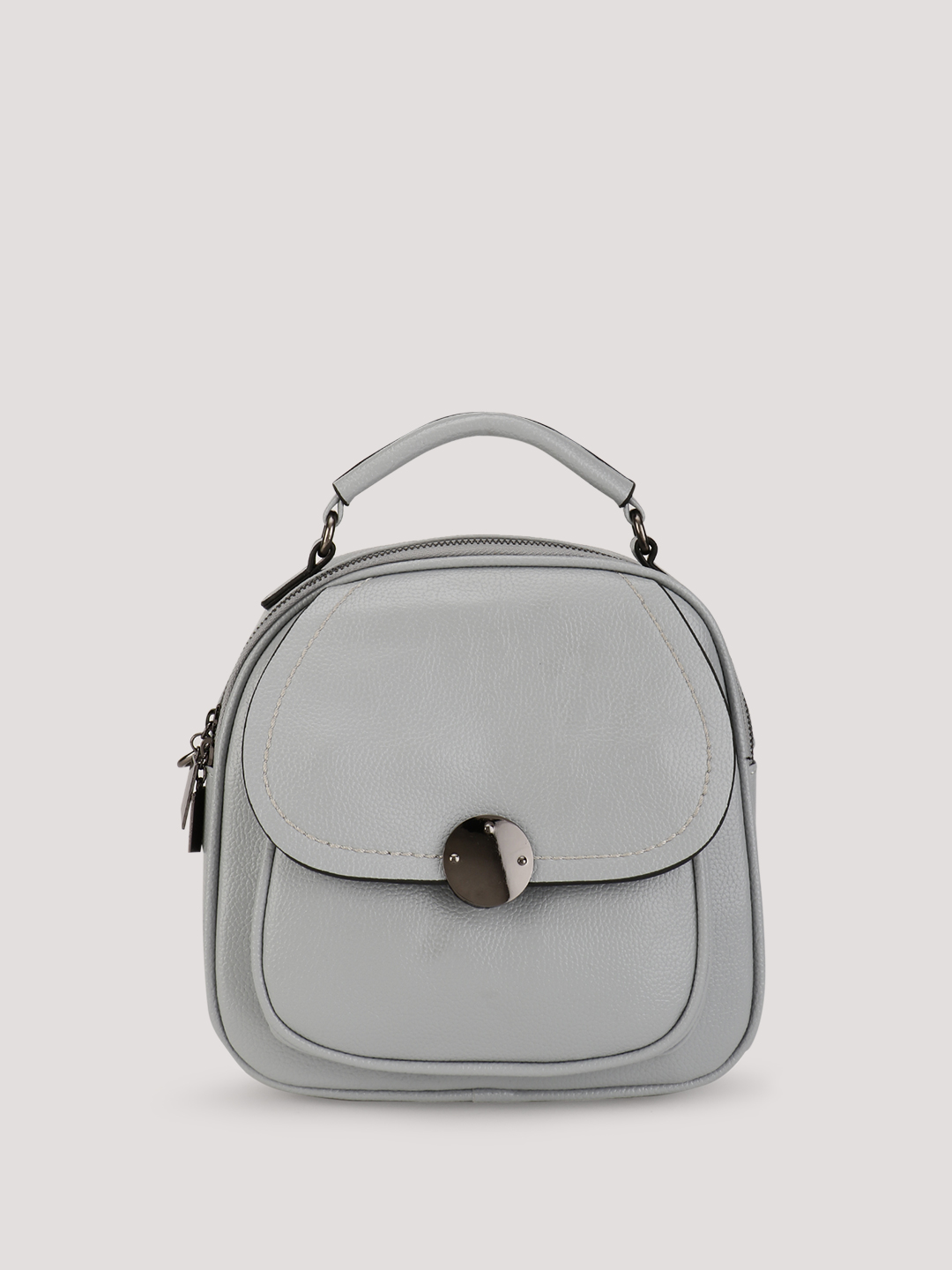 Origami Lily Grey Structured Backpack 1